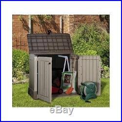Plastic Storage Box Yard Patio Garden Bike Outdoor Wheelie Bins Shed Large BBQ