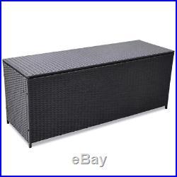 Poly Rattan Cushion Box Garden Storage Box Garden Chest Large Patio Trunk New UK