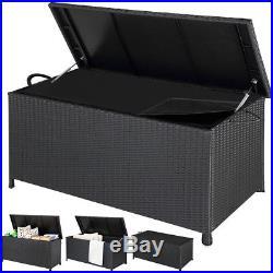 Poly Rattan Garden Patio Storage Chest Cushion Box daily outdoor waterproof hard
