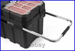 Portable Sturdy Resin Storage Rolling Tool Box Garage Organizer Lockable Cart