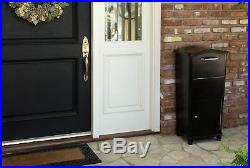 Postal Post Mail Storage Large Parcel Drop Box Locking Mailbox Package Bronze