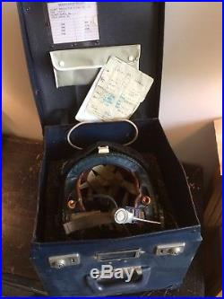 RAF AAC Pilots Flying Helmet Mk3b Large 1965 Flight Helmet & Storage Box Not WW2