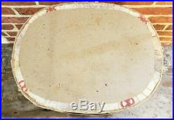 Rare Antique 19th C Large HAT Paper OVAL WALLPAPER Lidded STORAGE BOX 14