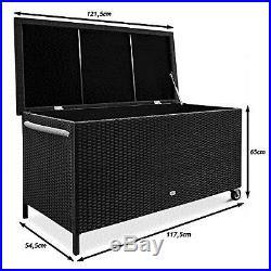 Rattan Garden Storage Chest Waterproof Large Outdoor Box Patio Container Deck