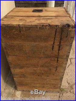 Reclaimed Old Large Rustic Pine Blanket Toy Storage Box Chest 41¾ Long