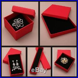 Red Box Gift Jewellery Bracelet Display Watch Necklace Ring Present Storage New