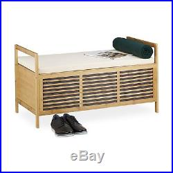 Swell Relaxdays Bamboo Storage Bench Size L 46 X 93 X 50 Cm Inzonedesignstudio Interior Chair Design Inzonedesignstudiocom