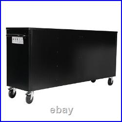 Rolling 15 Drawer Tool Storage Chest Box Cabinet Black Heavy Duty Lockable Large