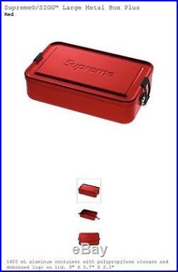 SUPREME SIGG BOTTLE, LARGE & SMALL Metal Storage TINS Box Accessory Set TNF Logo