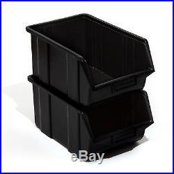 Set of 120 black large ECO-Box storage bin 35 x 22 x 16.5 cm, size 3