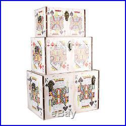 Set of 3 Playing Card Style Storage Keepsake Boxes