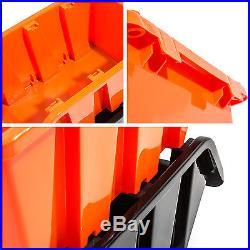 Set of 60 XXL extra large orange plastic storage bin IN-Box, size 6