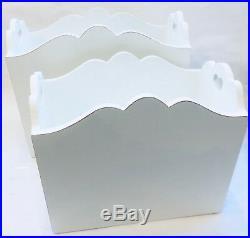 Shabby Chic Wooden Magazine Newspaper Mail Paper Rack Holder Basket Home Decor