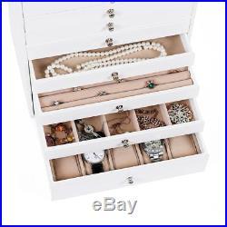 Songmics Extra Large Jewellery Box 10 Layer Storage Case Organizer with