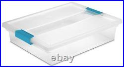 Sterilite Large Plastic File Clip Box Storage Tote Container with Lid (24 Pack)