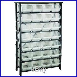 Storage Bin Rack With 28 Large Bins Black 381005
