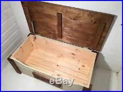 Storage Toy Box Personalised Wideboy Wooden Trunk Chest Ottoman
