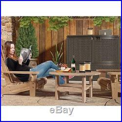 Suncast VDB19500S Premium Extra Large Garden Resin Wicker Storage Deck Box