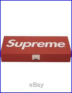 Supreme Large Metal Storage Box Logo Red SS17 2017