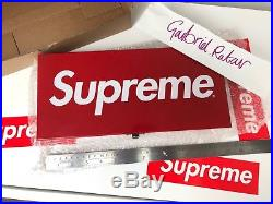 Supreme Large Metal Storage Tin Box Logo SS17 D/S NEW BOXED