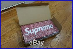 Supreme Logo Red Large Metal Storage Box Brand New In Box Bubble 100% Authentic