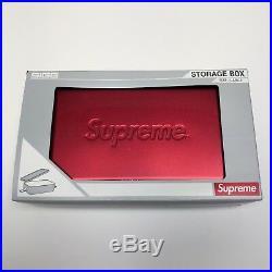 Supreme SIGG Red Metal Logo Accessories Storage Box Large SS18 NEW