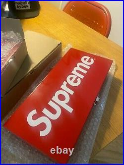 Supreme Small + Large Metal Red 2017 Storage Sticker Box Set RARE! BRAND NEW DS