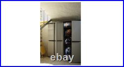 Tall Plastic Cupboard Storage Outdoor Garden Shelves Utility Cabinet Box Uk