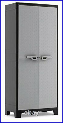Tall Plastic Outdoor Cupboard Storage Cabinet Utility Garden Box
