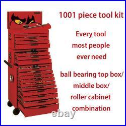 Teng Tools 1001 Piece Mega Master Tool Kit Box Storage Stack System TCMM1001N