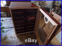 Thompson & Co. 1915 Large Seven Drawer Cigar Box Humidor Storage