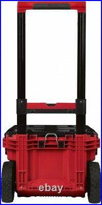 Tool Box Storage Organizer Portable Stackable Rolling Wheels Lockable Tray Red