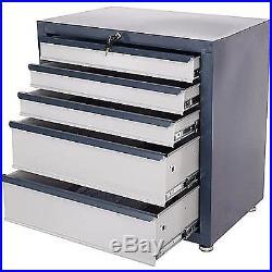 Tools Storage Cabinet 5 Drawers Steel Chest Heavy Duty Locking Garage Box Large