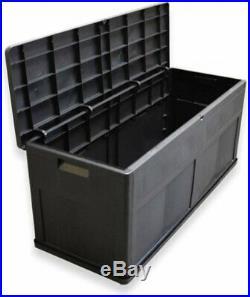 Toomax Black Plastic Indoor Outdoor Garden Storage Chest Cushion Box 320 Litre