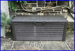 Toomax Large 550L Outdoor Garden Storage Box Sit On Bench Chest Water Resistant