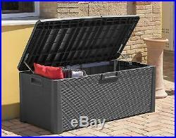 Toomax Nevada 550L Outdoor Garden Storage Box Sit On Bench 148 x 72 x 60 cm