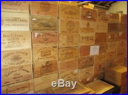 Trade pallet 100 wine boxes wine crates job lot wooden french crates wine box