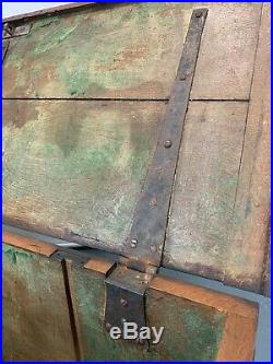 UK DELIVERY Large 19th Century Antique Solid Oak Coffer Chest Storage Trunk Box