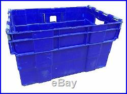 USED 65 Litre Stack/Nest Swingbar Plastic Storage Boxes Containers Crates Totes