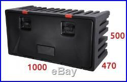 Underbody Truck Storage Box / Lorry Large Tool Case LAGO Black Dog 1000x470x500
