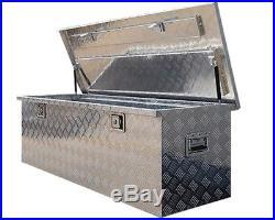 Us Pro Aluminium Chequer Plate Job Site Box Storage Chest Tool Van Truck