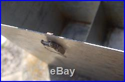 VINTAGE DOUBLE LATCH Large Steel BOX /CHEST, STORAGE, GUN AMMO STORAGE CONTAINER
