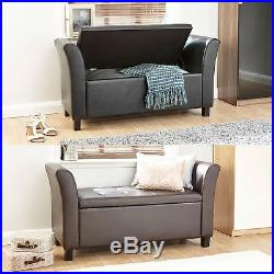 Verona Leather Window Seat Ottoman Storage Box Large Blanket Box Bench Footstool