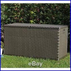 VidaXL Garden Storage Box 420 L Outdoor Cushion Chest Utility Brown/Anthracite