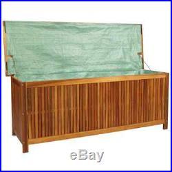 VidaXL Solid Acacia Wood Outdoor Storage Box XL 150x50x58cm Cabinet Chest Unit