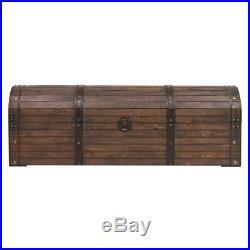 Vintage Antique Large Wooden Blanket Box Storage Trunk Solid Wood End-Of-Bed New