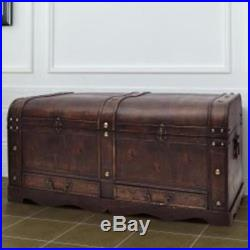 Vintage Coffee Table Large Storage Box Industrial Style Blanket Old Trunk Chest