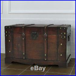 Vintage Large Wooden Treasure Chest Retro Storage Blanket Box Furniture Unit