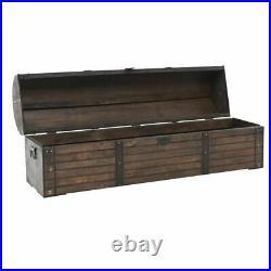 Vintage Storage Trunk Antique Chest Blanket Box Large Old Steamer Solid Wood Toy