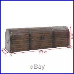 Vintage Treasure Box Storage Chest Solid Wood Case Trunk Large practical Brown